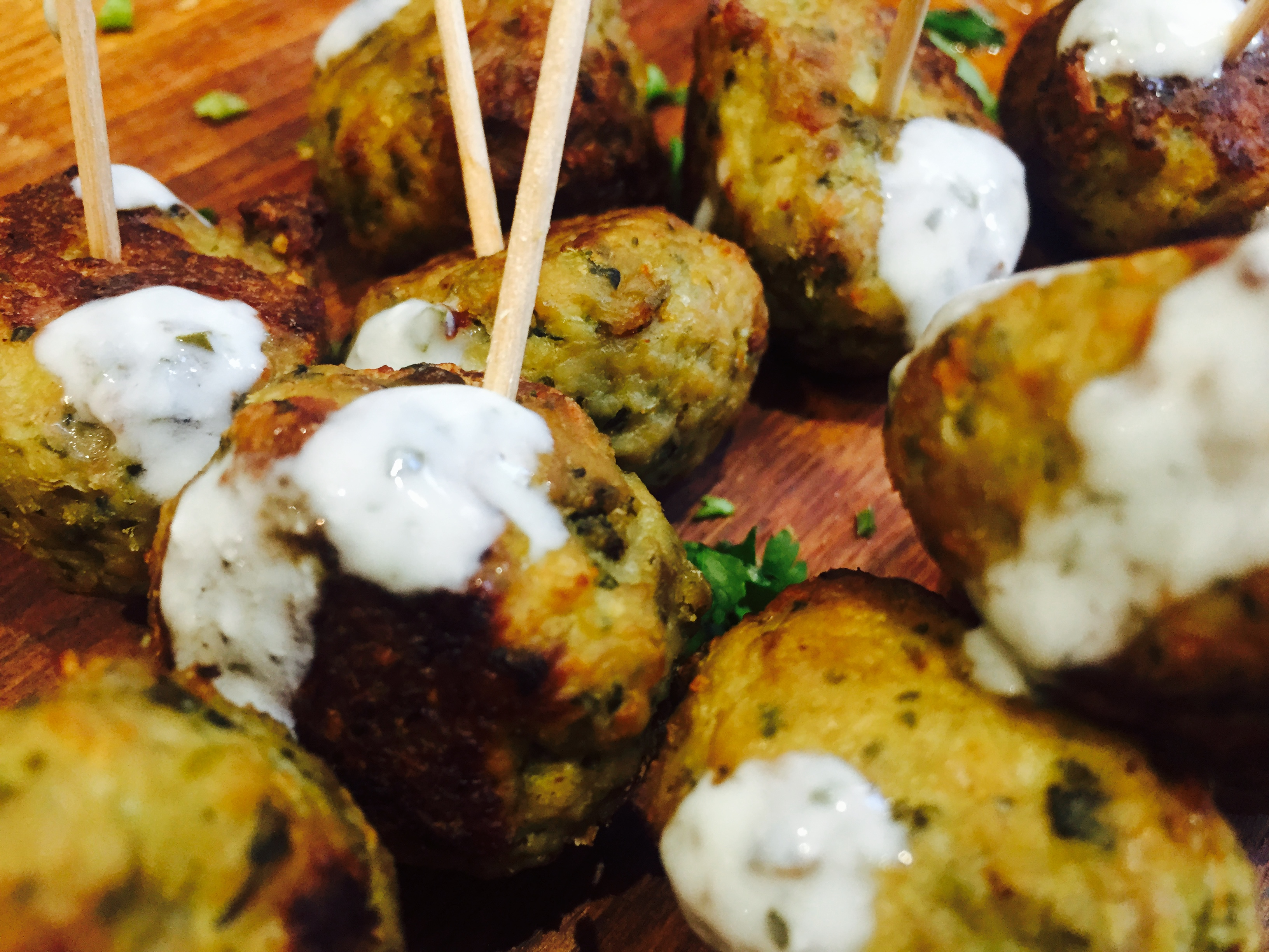 Chicken kofta canap s cooking with sukhi singh for Chicken canape ideas