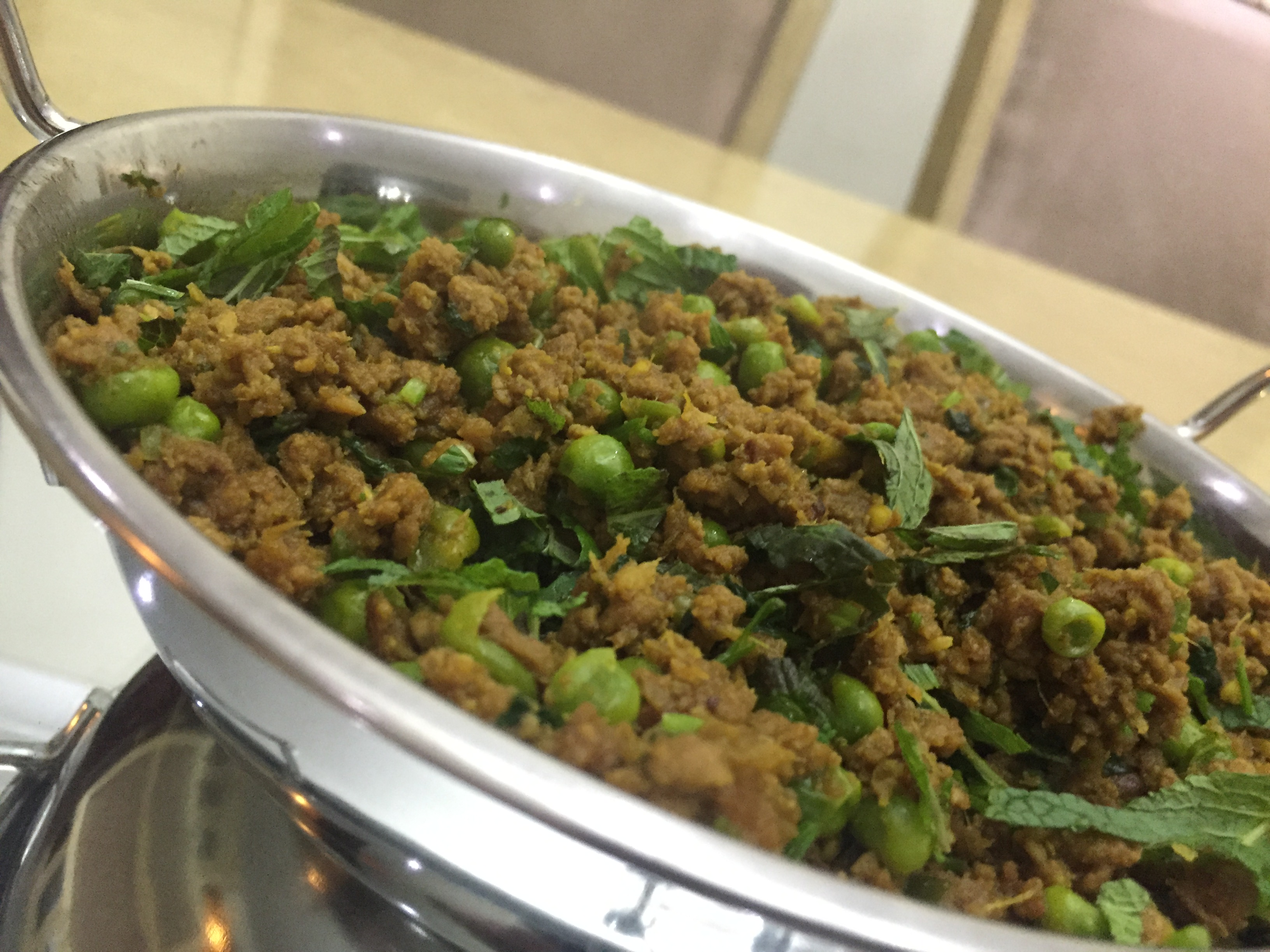 lamb keema with peas and mint - Cooking with Sukhi Singh